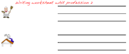Handwriting worksheet with professions.
