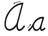 Learn to write cursive letter A a