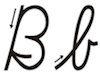 Learn to write cursive letter B b