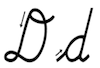 Learn to write cursive letter D d