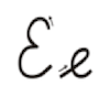 Learn to write cursive letter E e