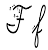 Learn to write cursive letter F f