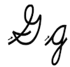 Learn to write cursive letter G g