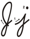 Learn to write cursive letter J j