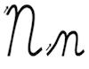 Learn to write cursive letter N n