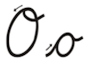 Learn to write cursive letter O o