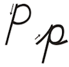 Learn to write cursive letter P p