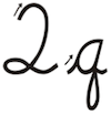 Learn to write cursive letter Q q