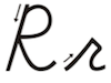 Learn to write cursive letter R r