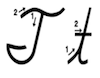 Learn to write cursive letter T t