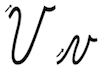 Learn to write cursive letter V v