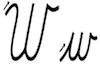 Learn to write cursive letter W w