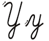 Learn to write cursive letter Y y