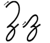 Learn to write cursive letter Z z